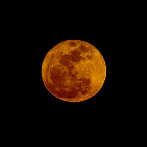 Super Moon Over Texas